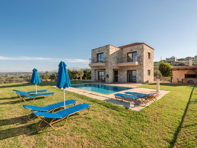 Photo for A stone-built villa with private pool and amazing sea view