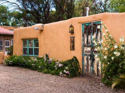Photo for Casita de Acequia Madre, historic 1 bed casita with a/c!