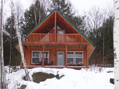 Photo for Secluded, Modern, Pine Cottage  on 71 Acre Wilderness Pond ,130 acre wooded lot