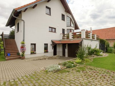 Photo for Beautiful apartment in the Harz with a terrace directly on to the R1 bike path