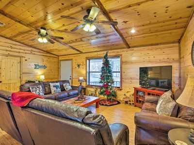 Photo for NEW! Broken Bow Cabin w/Hot Tub & Covered Deck!