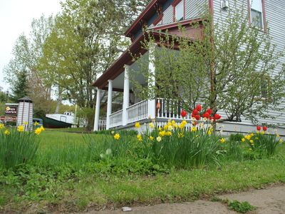 """Photo for New VRBO 2019! At Ships Quarters """"Northland"""" in downtown Bayfield, WI."""