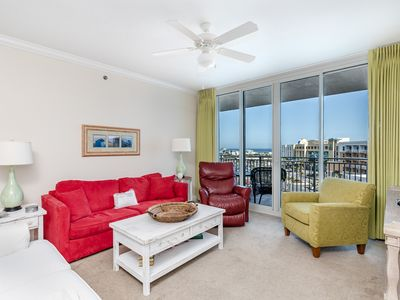 Photo for Lovely condo at Waterscape! Gorgeous views! Washer/dryer in-unit! Playground + two hot tubs on-site!