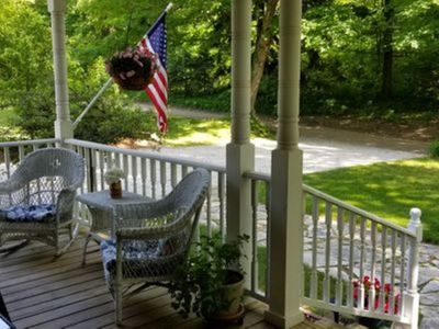 Front Porch looking into wooded area