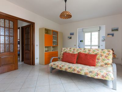 Photo for Large apartment with 2 bedrooms, 2 bathrooms, washing machine, panoramic sea view