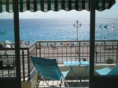 Photo for Beach Front Apartment with Amazing Views on the Promenade  Cote d'Azur, Riviera