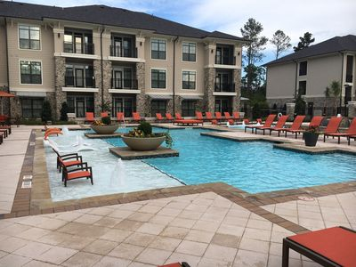 Photo for Beautiful Pool View 2 bedroom / 2 bath condo in The Woodlands