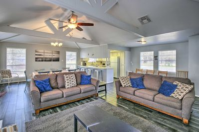This home boasts 2,200 square feet of comfortably appointed living space.