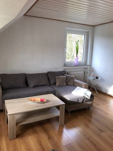 Photo for Quiet apartment and fantastic distant view of the Weserbergland