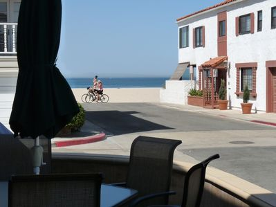 How close are we to the ocean? The view from your patio (one house from sand)