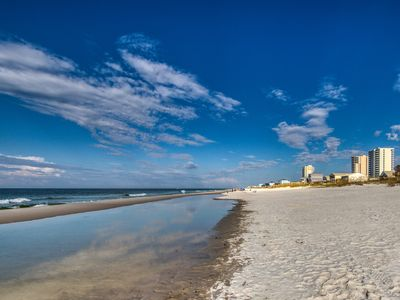 Photo for NEW LISTING! Waterfront condo w/ beach access, shared pool, hot tub, & tennis