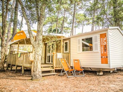 Photo for Camping Le Vieux Port Resort & Spa ***** - Mobil Home Grand Confort TV Plancha 4 Rooms 2 Bathrooms 6/8 People