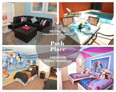 Photo for Stunning 4 bed 3 bath  on resort with splash pool & themed kids rooms.