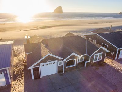 Photo for Whale's Tail Cottage #131 - oceanfront luxury home on the beach in Pacific City