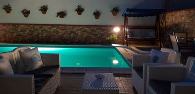 Photo for Pretty apartment in town with pool
