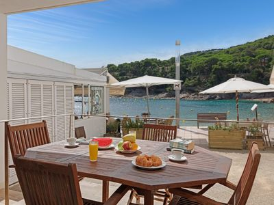 Photo for FILOSIA 1-beachfront apartment-Tamariu-Costa Brava