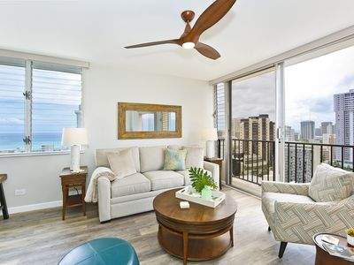Photo for High Floor with Ocean View! Bedroom A/C, W/D, WiFi, Parking!