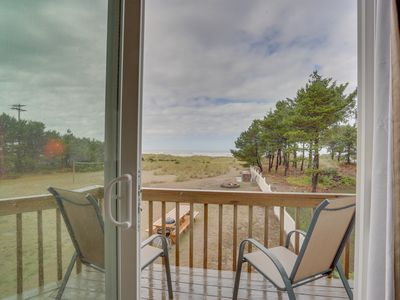 Photo for Dog-friendly oceanfront studio w/ lovely views - the beach is your back yard!