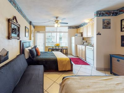 Photo for Cozy, waterfront studio w/ a balcony, ocean view, shared pools, & beach access
