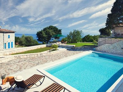 Photo for Charming villa Merula with 50 m² private pool, sea view, family