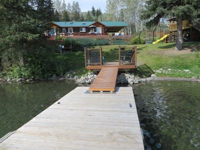 Lake house from dock