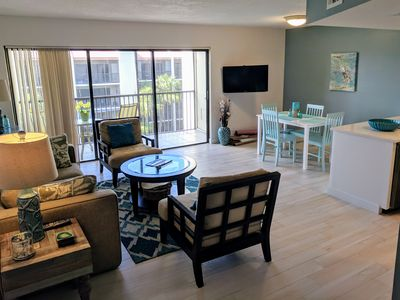 Photo for Quick walk to the beach from top floor condo!