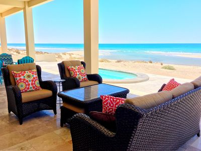Photo for Casa Sirena Luxury Private Beach Front Home~Dip Pool~View Deck