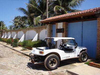 Photo for Charming villa with private pool on the beach of Morro Branco