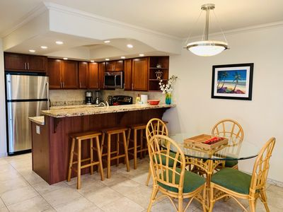 Fully stocked kitchen: new granite counter, cherry cabinets & ss appliances