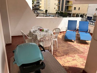 Photo for Apartment In Santa Margarida, Terrace 30 M2, 2 Minutes From The Beach Walking.