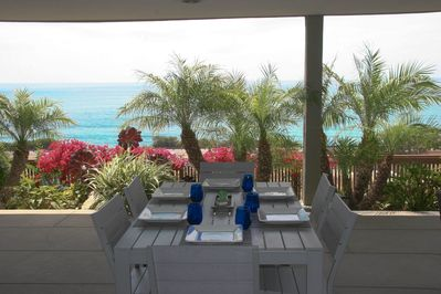 Watch the dolphins while you enjoy a meal on the 1000 sq foot outdoor patio.