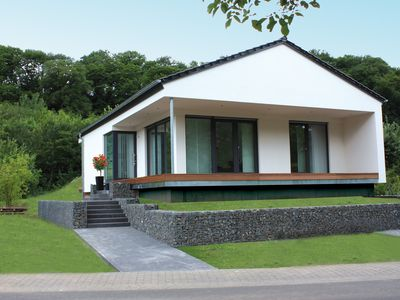Photo for NEW Modern holiday home directly on the Moselle, panoramic view, 2 terraces, garden