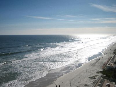 Photo for Oceanfront Penthouse - 40' Private Balcony, Right on Daytona Beach, W/ video