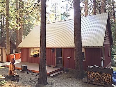 Black Bart is tucked in the tall trees and just a short walk down from parking to the welcoming deck.