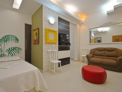 Photo for Silent and cozy studio on the block of the beach in Copacabana!