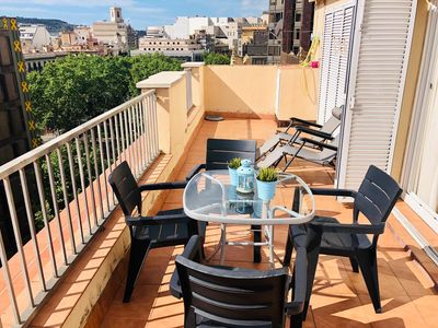 Photo for Luminous Attic Apartment with Terrace in the best area of Barcelona