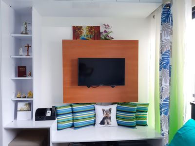 Photo for Cozy and Homey Place with Gerzon's Flat @Vinia Residences EDSA QC