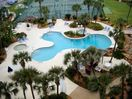 tropical pool, kiddie pool, hot tub, lighted tennis courts and shuffle board
