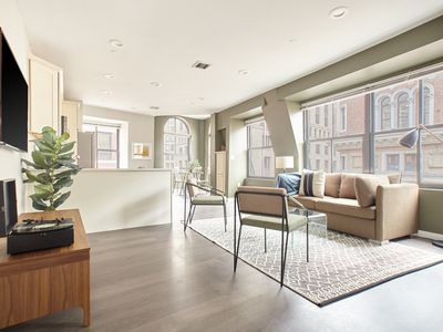 Photo for Sonder | Financial District | Airy 1BR + Sofa Bed