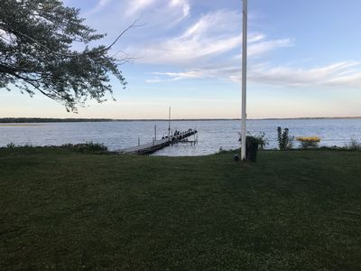 Photo for Cabin 50 feet from the beach with a bonfire pit in between.