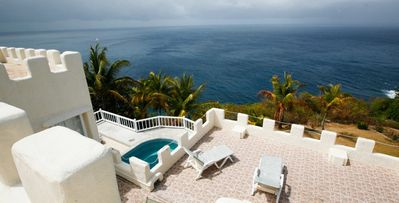 Photo for Light Castle- 2 bd cliffside castle style villa with plunge pool in Cap Estate