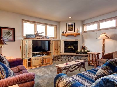 Photo for Perfect Breckenridge location, private patio with grill, outdoor hot tub access!