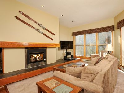 Photo for Elegant Premier 2 Bedroom Condo with Fireplace and Balcony