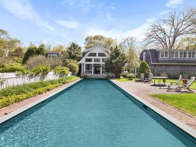 Photo for Sag Harbor Luxury Estate | Private Pool | 2Min Walk to Beach | Concierge Service