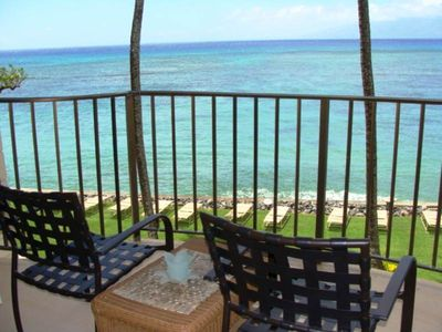Photo for Ocean Front Views!! One bedroom condo at the Kahana Reef, sleeps 4. #313