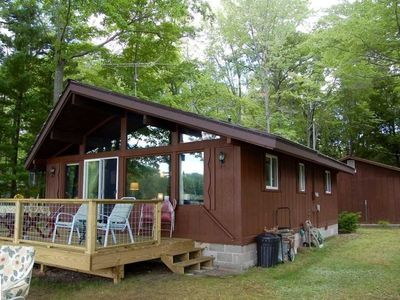 Photo for WHEELER LAKE HOUSE (Kalkaska, MI): Sleeps 7, 3 boats included, Quiet Lake