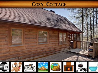 Photo for Cozy Cottage - Mountain Views / Hot Tub / WiFi / Motorcycle Friendly