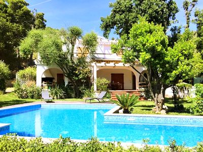 Photo for Gorgeous detached villa with private pool and wifi, 300 m away from sandy beach.