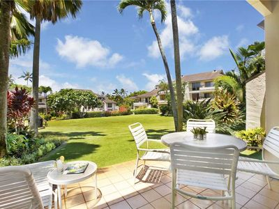 Photo for Poipu Vacation Rental look out to Grassy Garden *Kahala 514*