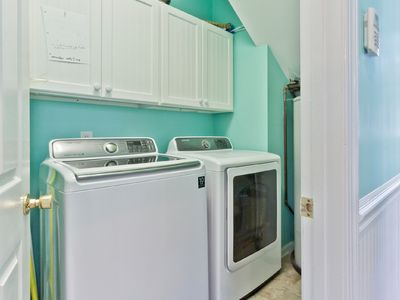 Washer and dryer off of the downstairs kitchen.